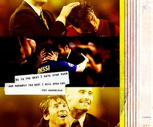 leo messi, guardiola, and quote image