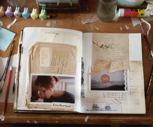 book, art, and notebook image