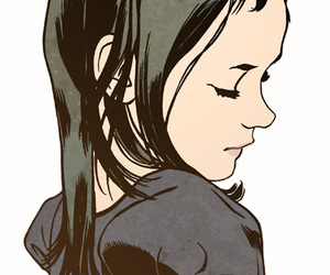 comic, illustration, and girl image