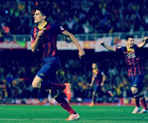 Barcelona, football, and football players image