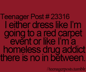 funny, teenager post, and dress image