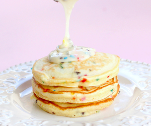 pancakes, food, and sweet image