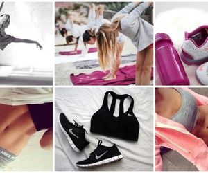 fit, yoga, and stretch image