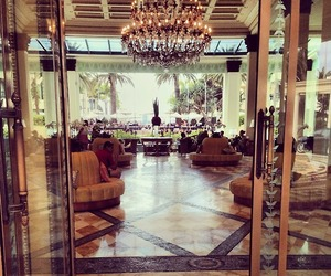 beautiful, chandelier, and luxury image