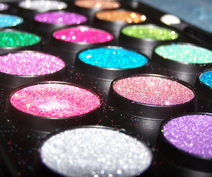 glitter, makeup, and make up image