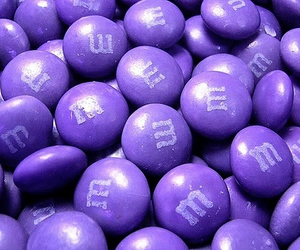 purple, m&m's, and candy image