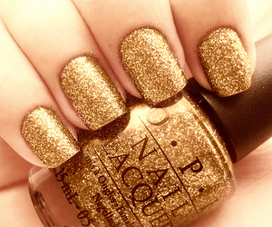 gold, lovely, and nails image