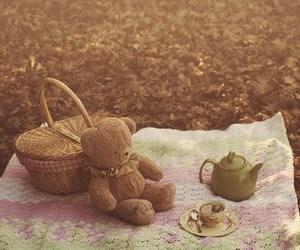 picnic, bear, and tea image