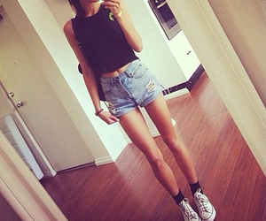 girl, style, and skinny image