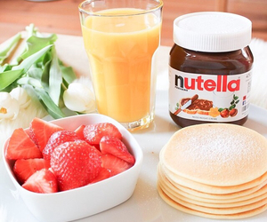 nutella, breakfast, and food image