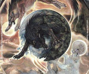art, hati, and mythology image