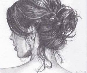 drawing, pretty, and updo image