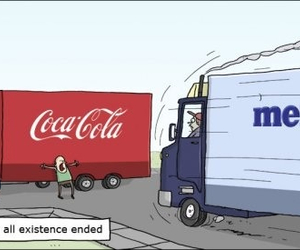coca cola, end of the world, and explosion image