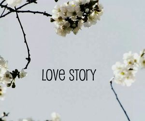 flowers, love story, and sky image