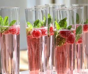 drink, pink, and raspberry image