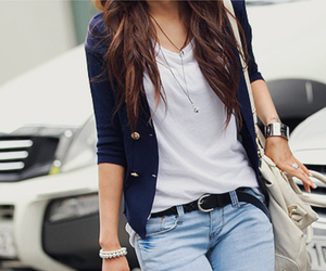 bag, casual, and blue image
