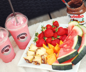 food, nutella, and fruit image