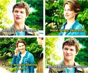 hazel, john green, and the fault in our stars image