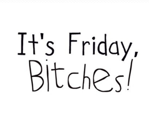 bitches, friday, and tgif image