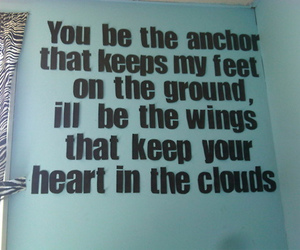 quote, anchor, and clouds image
