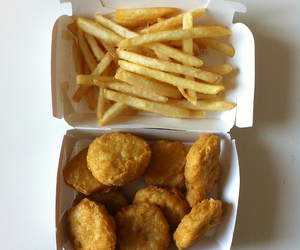 food, nuggets, and fries image