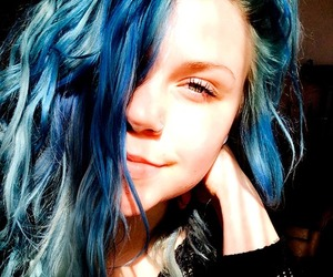 beautiful, blue hair, and dyed hair image