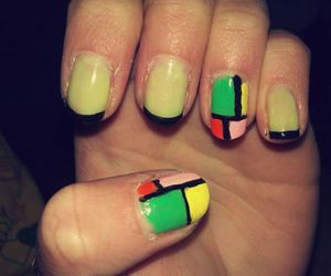 color, nails, and colorful image