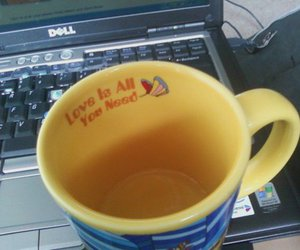 all you need is love, dell, and coffee mug image