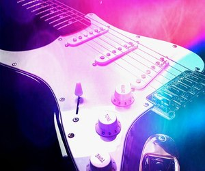 colors, electric guitar, and photography image