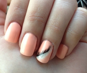 feather, girly, and nail art image