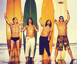 red hot chili peppers, flea, and anthony kiedis image