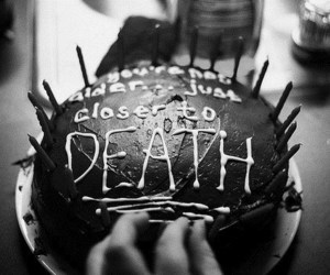 birthday, cake, and death image