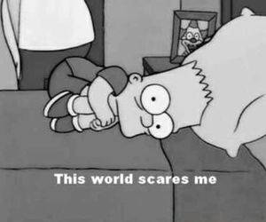 bart simpson, quote, and scared image