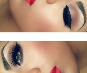 beauty, eyebrows, and lashes image