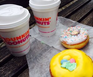 coffee, dunkin donuts, and holliday image