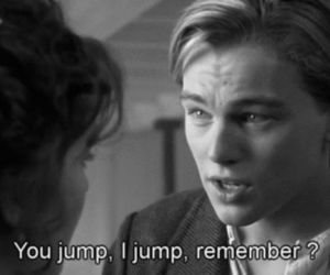jump, titanic, and love image