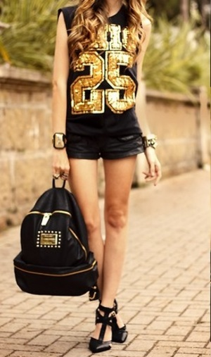 backpack, black, and outfit image