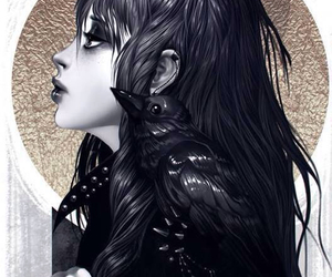 art work, gorgeous, and raven image