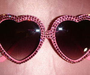pink, heart, and sunglasses image