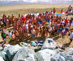 beach, group, and Sunny image