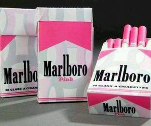 girly, pink, and marlboro image