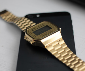 iphone, casio, and watch image