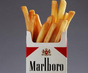 marlboro, cigarette, and food image