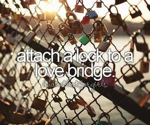 lock, love, and bridge image