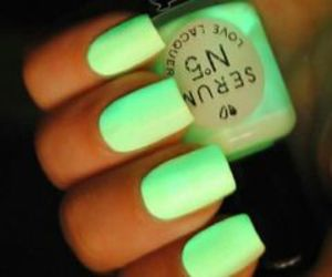 green, pretty, and nails image