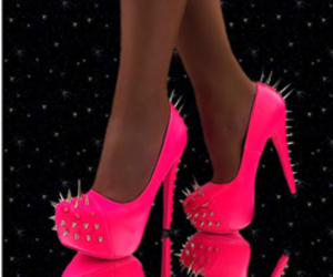 pink, neon, and shoes image