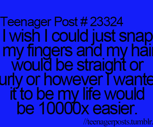 hair, quote, and teenager post image