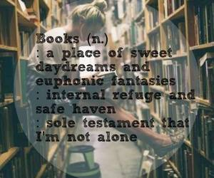 books, quotes, and love image