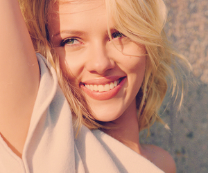 blonde, Scarlett Johansson, and smile image