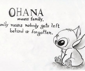 quote, ohana, and lilo and stitch image